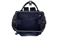 limited sale anello faux leather rucksack small in navy best price last chance