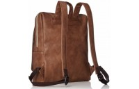 best price anello legato faux leather square backpack in camel last chance limited sale