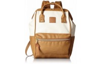 limited sale anello faux leather rucksack small in ivory/camel best price last chance