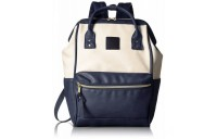 limited sale anello faux leather rucksack small in ivory/navy best price last chance