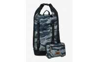 best price sea stash plus 35l large wet/dry roll-top surf backpack - camo black last chance limited sale