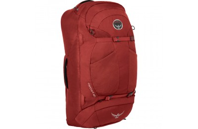 best price osprey farpoint 55 - jasper red  last chance limited sale