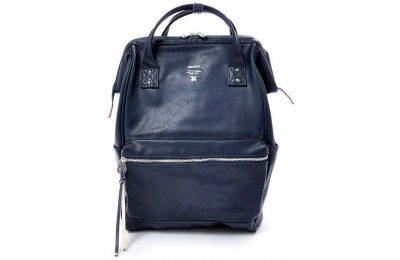 last chance anello faux leather rucksack large in navy best price limited sale