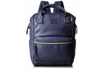 best price anello faux leather rucksack in navy limited sale last chance