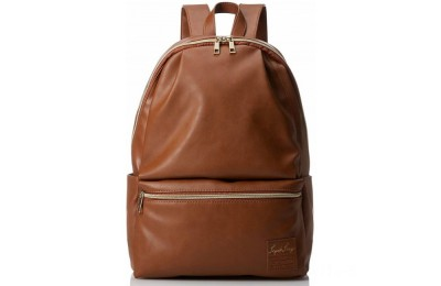 last chance anello legato faux leather backpack in camel best price limited sale