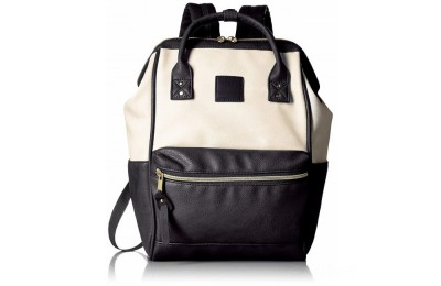 best price anello faux leather rucksack small in ivory/black last chance limited sale
