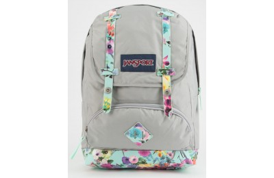 last chance jansport cortlandt spring sky backpack grey/multi best price limited sale