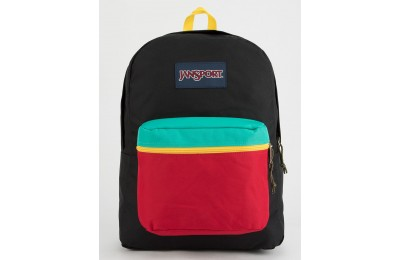 best price jansport superbreak rasta backpack black last chance limited sale