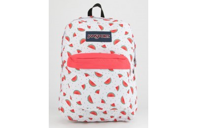limited sale jansport superbreak watermelon rain backpack white combo last chance best price
