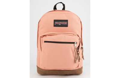 best price jansport right pack muted clay backpack pink limited sale last chance