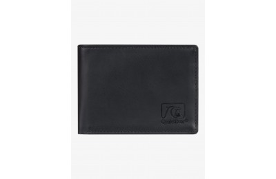 last chance slim vintage bi-fold wallet - black best price limited sale