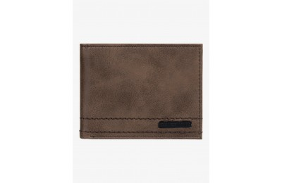 last chance stitchy bi-fold wallet - chocolate brown limited sale best price