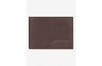 best price minimack leather bi-fold wallet - chocolate brown last chance limited sale