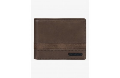 last chance supply slim bi-fold wallet - chocolate brown best price limited sale