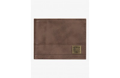 last chance new stitchy tri-fold wallet - chocolate brown best price limited sale
