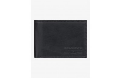 last chance minimack leather bi-fold wallet - black best price limited sale