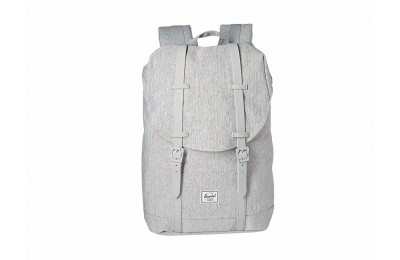 best price herschel supply co. retreat mid-volume light grey crosshatch/grey rubber limited sale last chance