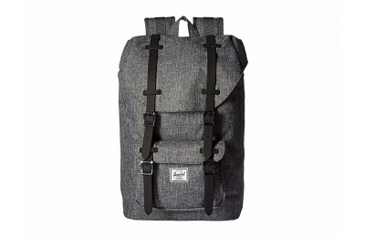 last chance herschel supply co. little america mid-volume raven crosshatch/black rubber best price limited sale