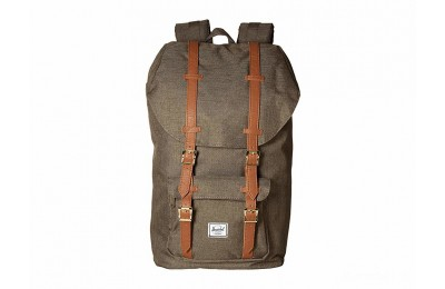 limited sale herschel supply co. little america canteen crosshatch/tan synthetic leather last chance best price