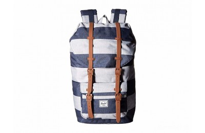 limited sale herschel supply co. little america border stripe/saddle brown last chance best price