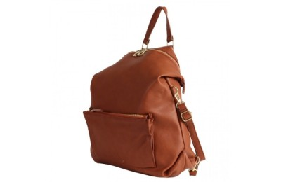 best price anello legato 2 way faux leather backpack in camel limited sale last chance