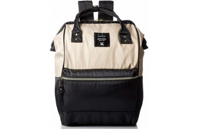 last chance anello nylon rucksack in black/beige best price limited sale