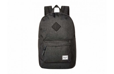 last chance herschel supply co. heritage mid-volume black crosshatch/black rubber limited sale best price