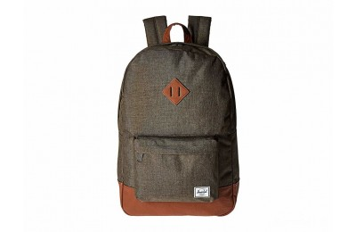 last chance herschel supply co. heritage canteen crosshatch/tan synthetic leather limited sale best price