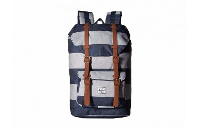 best price herschel supply co. little america mid-volume border stripe/saddle brown last chance limited sale