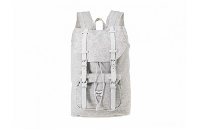 best price herschel supply co. little america mid-volume light grey crosshatch/grey rubber last chance limited sale