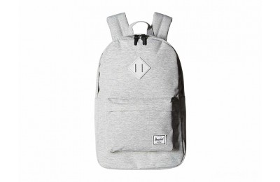 last chance herschel supply co. heritage mid-volume light grey crosshatch/grey rubber limited sale best price