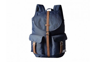 limited sale herschel supply co. dawson navy/tan synthetic leather best price last chance