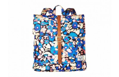 last chance herschel supply co. city mid-volume painted floral/tan synthetic leather limited sale best price