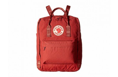 best price fjällräven kånken deep red/folk pattern limited sale last chance