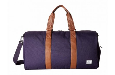 limited sale herschel supply co. novel mid-volume purple velvet/tan synthetic leather last chance best price