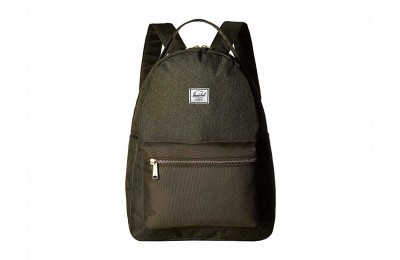 best price herschel supply co. nova mid-volume olive night crosshatch/olive last chance limited sale