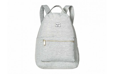 last chance herschel supply co. nova mid-volume light grey crosshatch best price limited sale