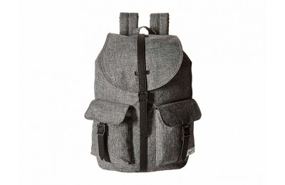 best price herschel supply co. dawson raven crosshatch/black synthetic leather limited sale last chance