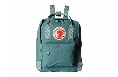 limited sale fjällräven kånken mini frost green/chess pattern last chance best price