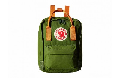 last chance fjällräven kånken mini leaf green/burnt orange best price limited sale