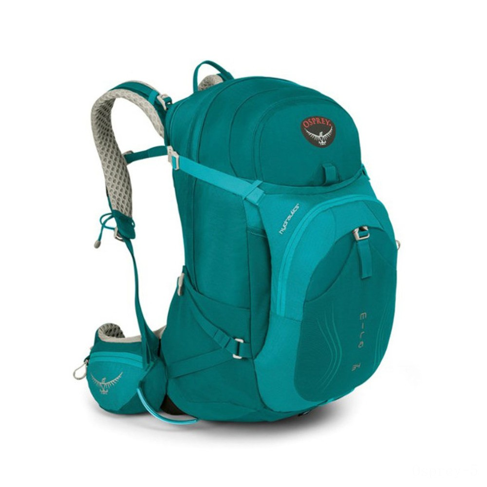 best price osprey mira ag 34 camping backpack  bondi blue last chance limited sale