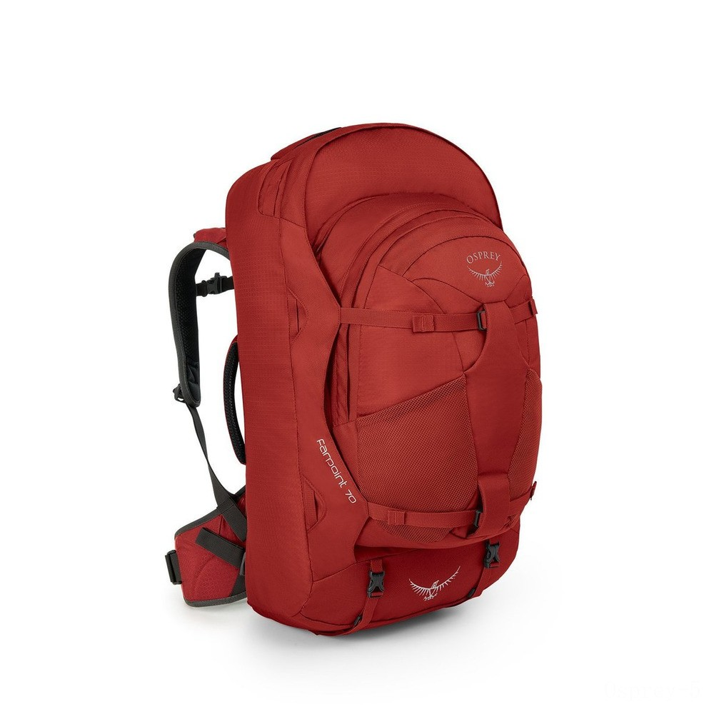best price osprey farpoint travel backpack - 70 l  jasper red limited sale last chance