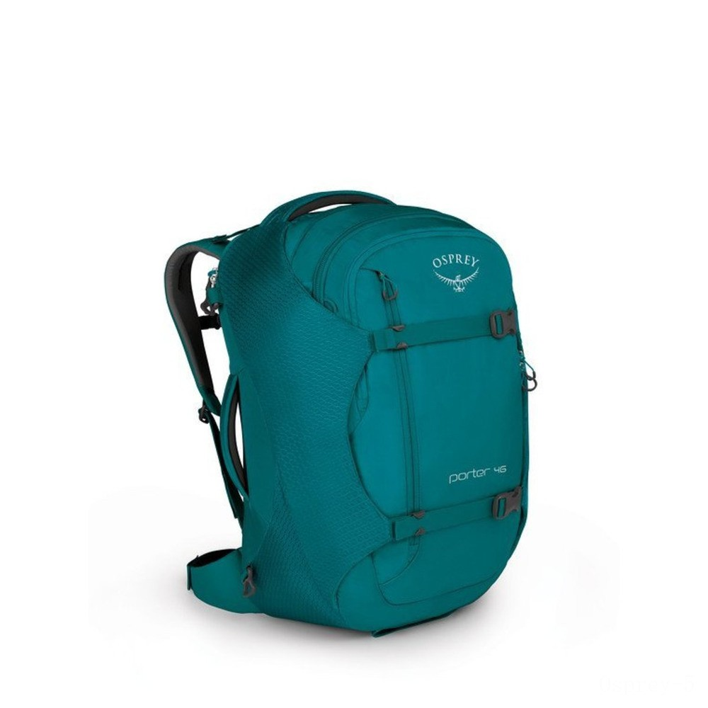 best price osprey porter 46 - mineral teal  last chance limited sale