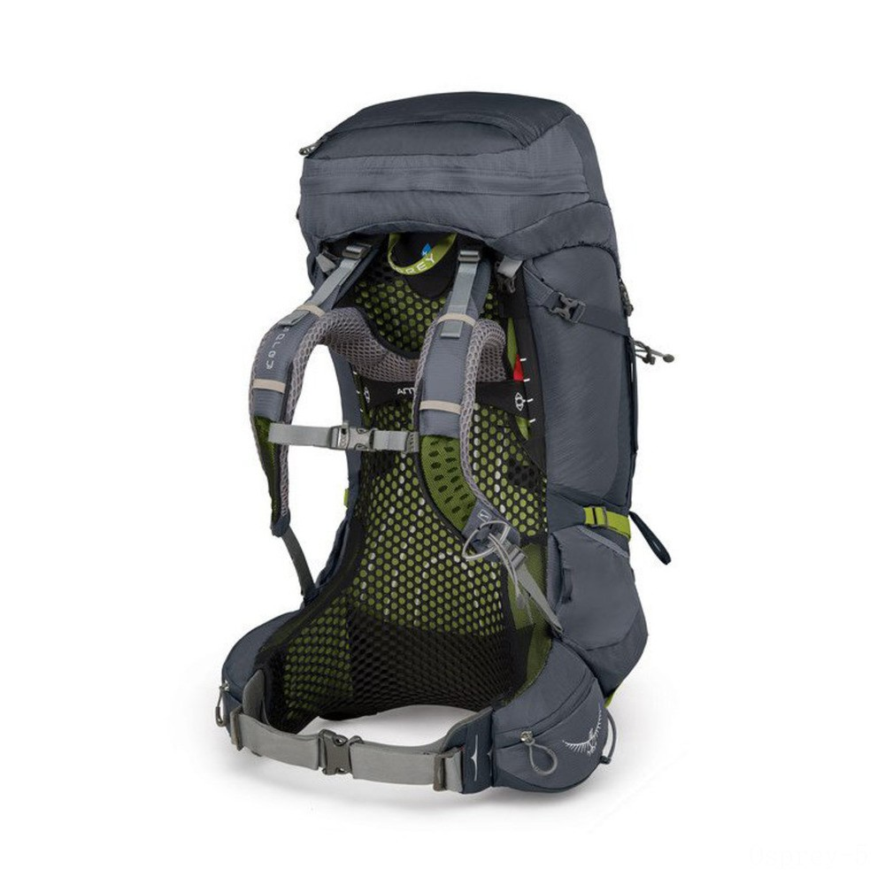 last chance osprey atmos ag 65l pack - mens  abyss grey limited sale best price
