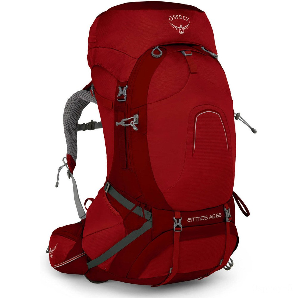 limited sale osprey atmos 65 ag backpack large  rigby red best price last chance