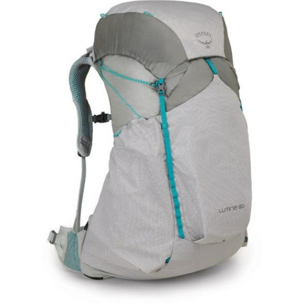 limited sale osprey lumina 60l pack - womens  cyan silver best price last chance