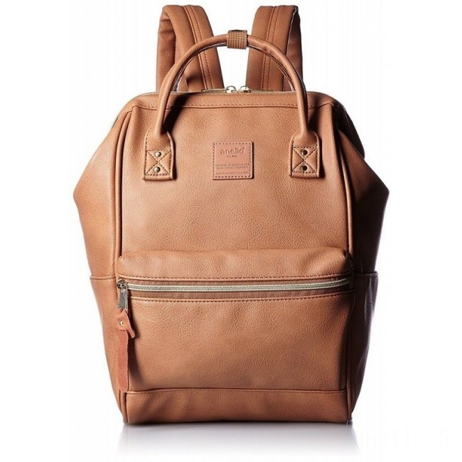 limited sale anello faux leather rucksack small in camel beige best price last chance