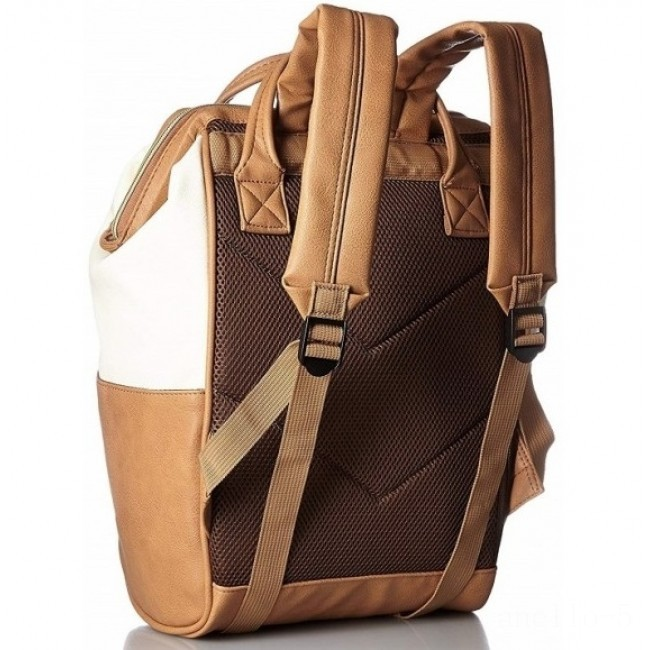 limited sale anello faux leather rucksack in ivory/camel last chance best price