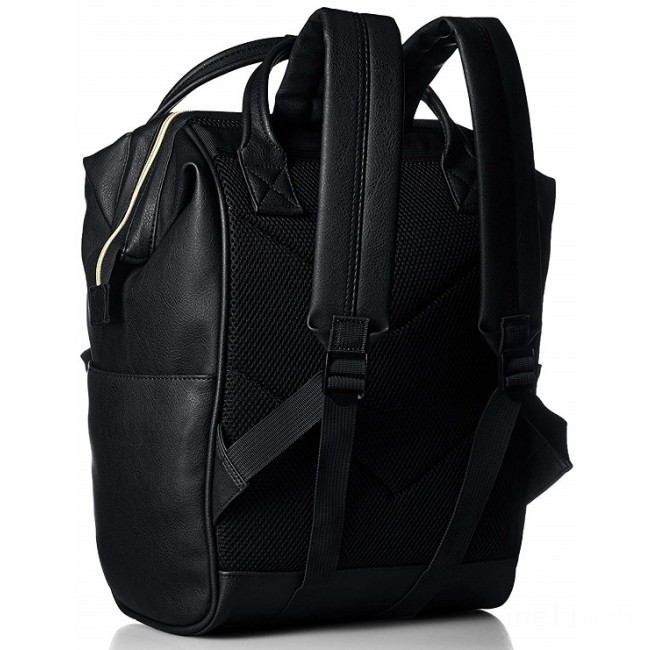 best price anello faux leather rucksack in black last chance limited sale