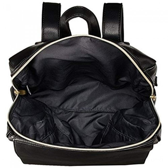 best price anello legato faux leather square backpack in black last chance limited sale